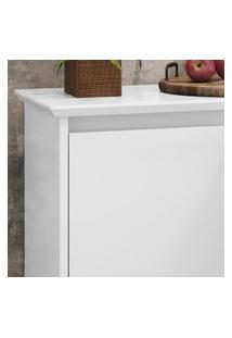 Aparador Buffet Retrô 3 Portas Luxo - Branco - Ej Móveis