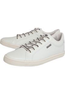 Tênis Coca Cola Shoes Pespontos Off-White