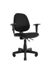 Cadeira Giratória Comfort. Média. Estrutura E Base Preta. Tecido Poliéster Prolabore Produtos Ergonômicos