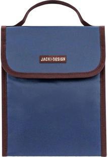 Bolsa Térmica Com Velcro- Azul Escuro & Marrom Escuro