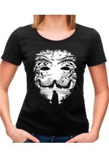 Camiseta Feminina The Mask Geek10 - Preto