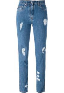 Moschino Calça Jeans Skinny - Azul
