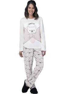 Pijama Fleece Bonne Nuit - Lua Luá - Rosa - Tricae