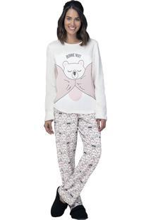 Pijama Fleece Bonne Nuit - Lua Luá - Rosa