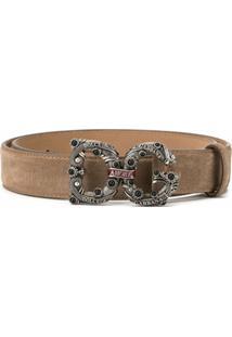 Dolce & Gabbana Cinto Com Fivela Dg Amore - Marrom