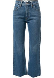 Re/Done Calça Jeans Flare Com Cintura Média - Azul
