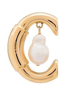 Chloé Brinco Único Metalizado - Dourado