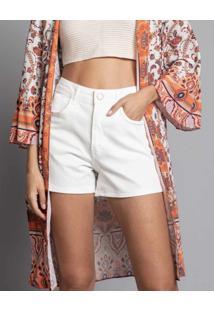 Shorts Califórnia Jeans Branco Off White - Lez A Lez