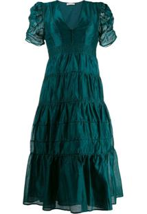Ulla Johnson Odile Organza Dress - Verde