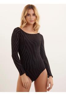 Body Bobô Cecy Tricot Estampado Feminino (Estampado, M)