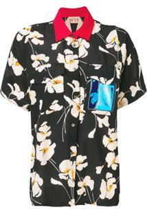 Nº21 Blusa Com Gola Contrastante - Preto