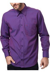 Camisa Di Marcus Manga Longa Roxa