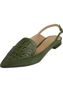 Sapatilha Delotto Slipper Nobuck Verde Militar