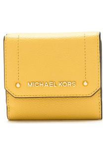 Michael Michael Kors Carteira Hayes De Couro - Amarelo