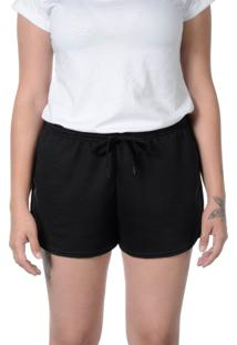 Short De Moletom Suffix Preto Curto