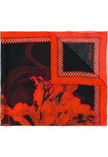 Roberto Cavalli Lenço Com Estampa Floral - Vermelho