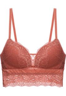 Sutiã Top Bojo Renda Love Lace Terracota