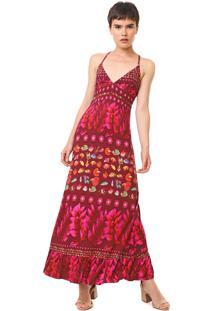 Vestido Desigual Longo Greta Vinho