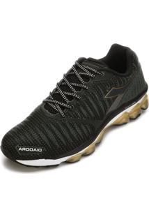 Tênis Diadora Stream 125517 Verde Musgo/Ouro
