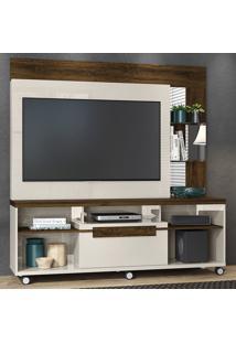 Estante Para Tv 1 Porta Marcos 642122 Off White/Savana - Madetec
