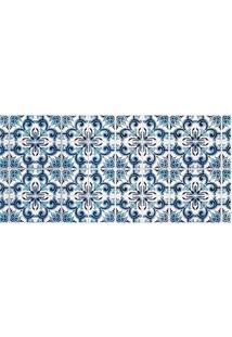 Tapete Transfer Azulejos- Azul & Branco- 90X40Cmtapetes Junior
