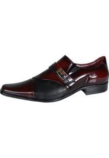 Sapato Social Gofer Dark 0701 Vinho
