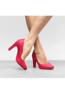 Scarpin Drezzup Salto Alto Basic - Feminino-Pink