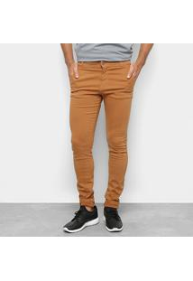 Calça Slim Fit Coffee Masculina - Masculino