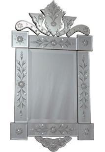 Espelho Veneziano Retangular 84X44Cm