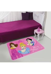 Tapete Disney Retrato Das Princesas 070X110 Jolitex Rosa