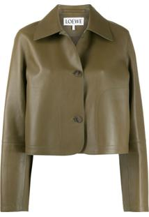 Loewe Cropped Button-Up Jacket - Verde