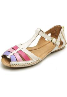 Tamanco Top Franca Shoes Babuche Feminino - Feminino-Off White