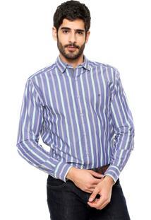 Camisa Wrangler Premium Azul/Verde