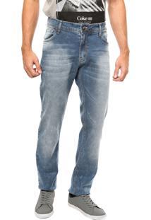 Calça Jeans Coca-Cola Jeans Super Estonada Azul