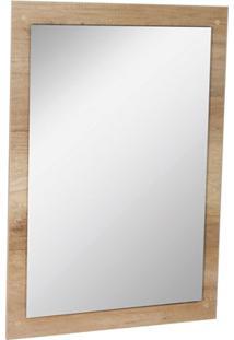 Espelho De Parede Em Mdf Munique 83X60Cm Carvalho