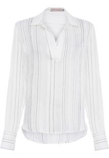 Camisa Feminina Stripe - Branco