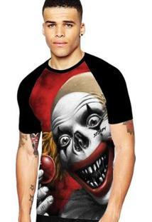 Camiseta Stompy Raglan Modelo 157 Masculina - Masculino-Preto