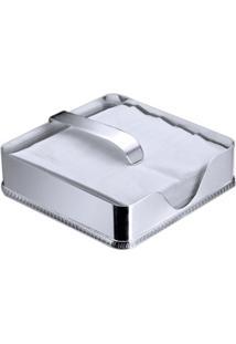 Porta Guardanapo Em Prata Pérola 18Cm