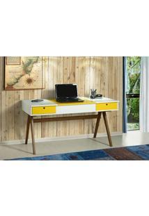 Escrivaninha Ibiza Branco/Amarelo 17119