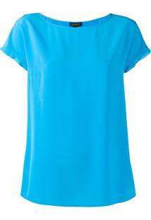 Escada Short-Sleeved Blouse - Azul