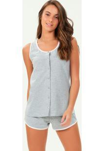 Pijama Regata Com Abertura Mescla