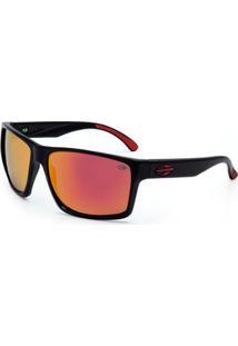 Óculos Sol Mormaii Carmel - Masculino-Preto+Vermelho