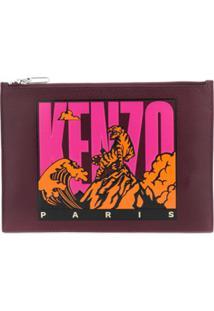Kenzo Bolsa-Carteira Tiger Mountain - Vermelho