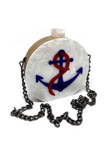 Bolsa Clutch Marítima