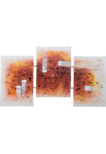 Quadro Artesanal Com Textura Abstrato Iii Colorido Uniart