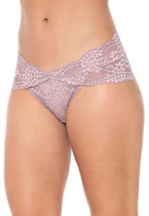 Calcinha Calvin Klein Underwear Caleçon Renda Rosa