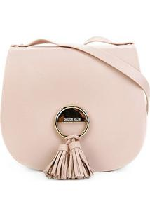 Bolsa Petite Jolie Saddle Bag Feminina - Feminino-Nude