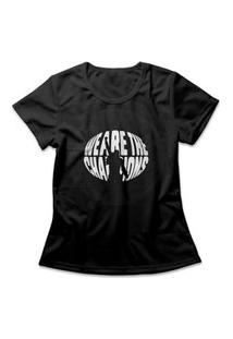 Camiseta Feminina Queen We Are The Champions Preto