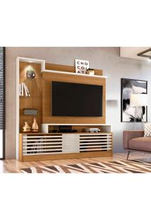 Estante Para Home Theater E Tv Até 55 Polegadas Frizz Prime Naturale E Off White