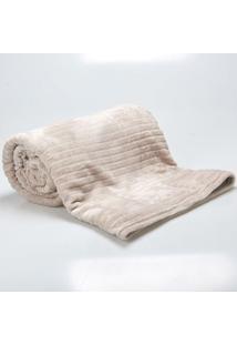Cobertor Solteiro 1,60X2,20M Canelado Cru